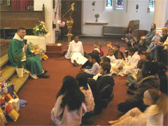 Children at Harvest Festival 2004