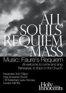All Souls' Requiem Mass Poster